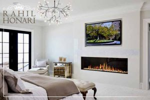 Fireplace in interior decoration