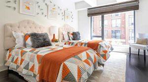 طراحی اتاق خواب با رنگ شاد