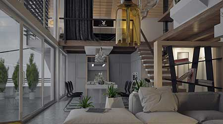 Penthouse interior design