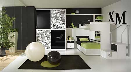 decoration design with green color