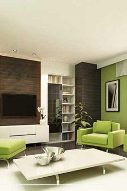 طراحی خانه با رنگ سبز جنگلی