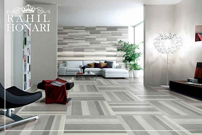 Diagonal design Floor Covering